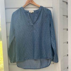 Anthropologie/ Cloth & Stone chambray tunic